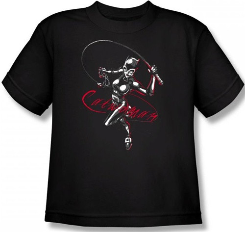 Image for Batman Youth T-Shirt - Catwoman Kitten with a Whip