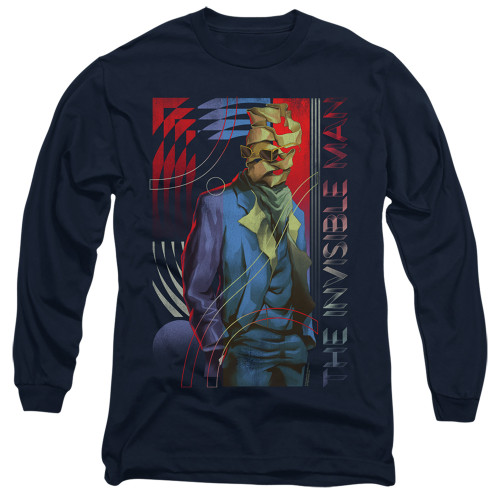 Image for The Invisible Man Long Sleeve Shirt - Unravelling
