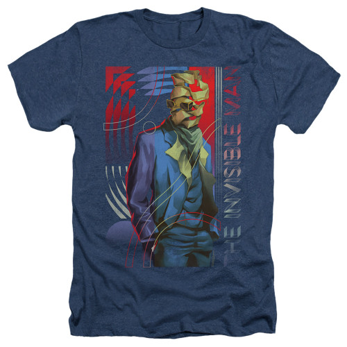 Image for The Invisible Man Heather T-Shirt - Unravelling