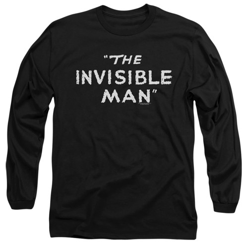 Image for The Invisible Man Long Sleeve Shirt - Title Card