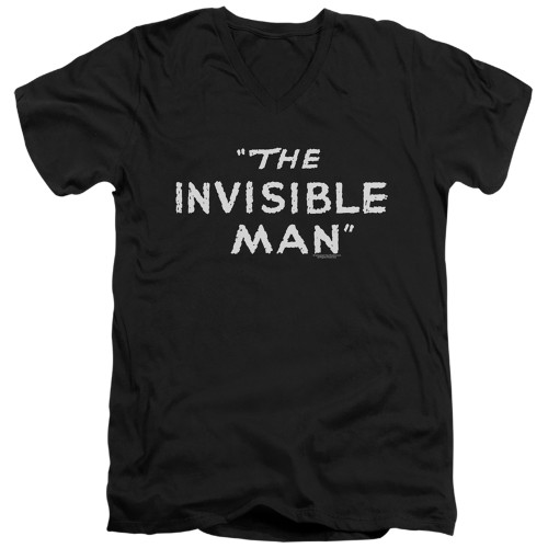 Image for The Invisible Man V Neck T-Shirt - Title Card