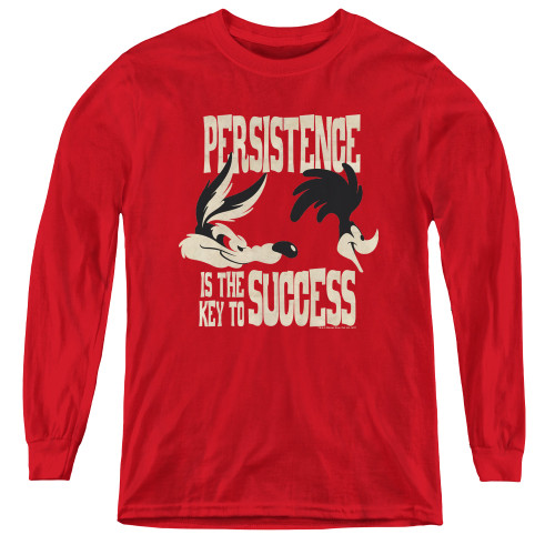 Image for Looney Tunes Youth Long Sleeve T-Shirt - Persistence