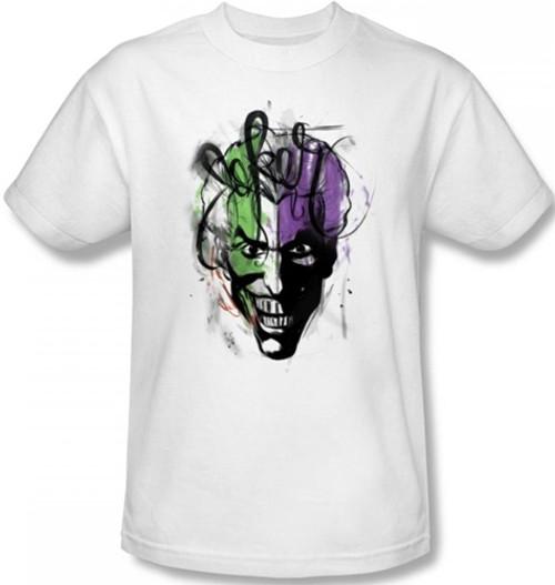 Image Closeup for Batman T-Shirt - Joker Airbrush