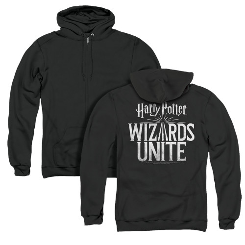 Image for Harry Potter: Wizards Unite Zip Up Back Print Hoodie - Logo