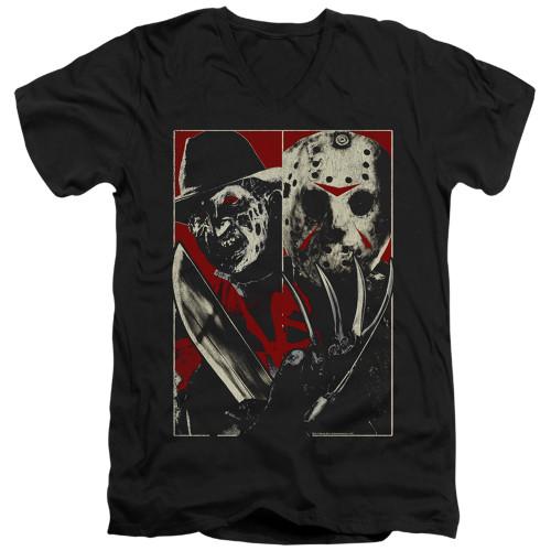 Image for Freddy vs Jason V Neck T-Shirt - VS