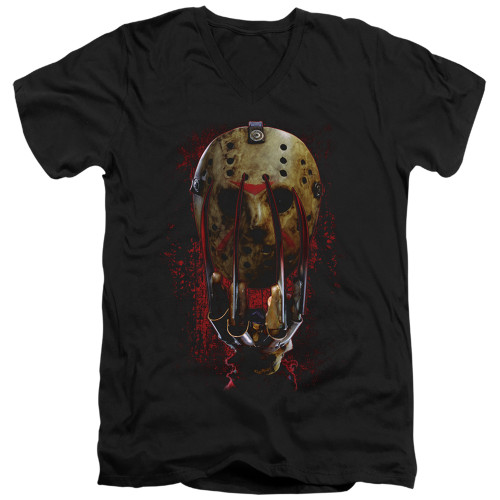 Image for Freddy vs Jason V Neck T-Shirt - Mask and Claws