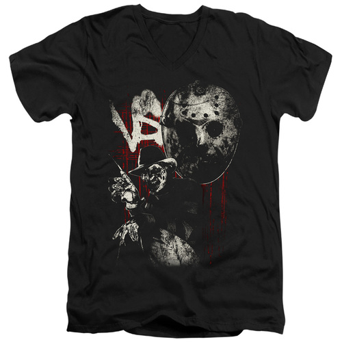 Image for Freddy vs Jason V Neck T-Shirt - Scratches