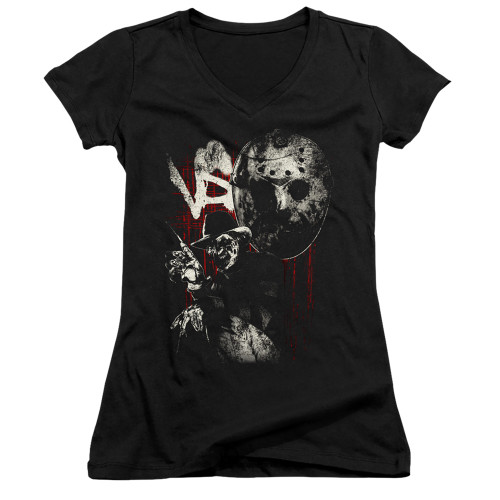 Image for Freddy vs Jason Girls V Neck - Scratches