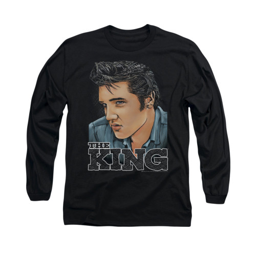 Image for Elvis Long Sleeve T-Shirt - Graphic King