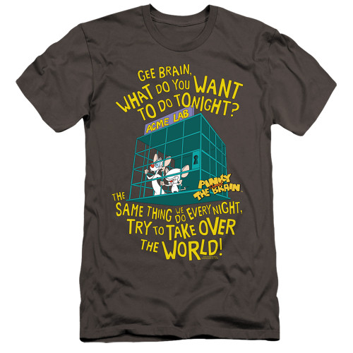 Image for Pinky and the Brain Premium Canvas Premium Shirt - The World