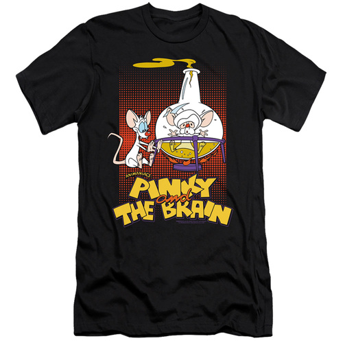 Image for Pinky and the Brain Premium Canvas Premium Shirt - Lab Flask