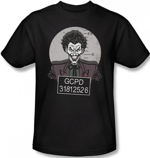 Image Closeup for Joker T-Shirt - Busted!