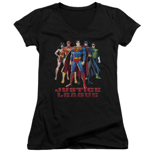 Image for Justice League of America Girls V Neck - In League