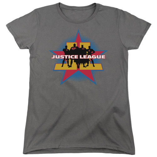 Image for Justice League of America Stand Tall Woman's T-Shirt