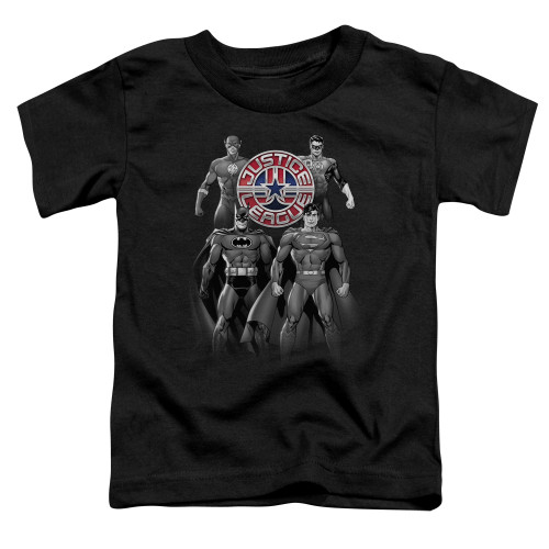 Image for Justice League of America Shades of Grey Toddler T-Shirt