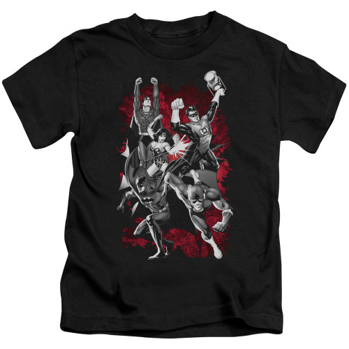 Image for Justice League of America JLA Explosion Kid's T-Shirt