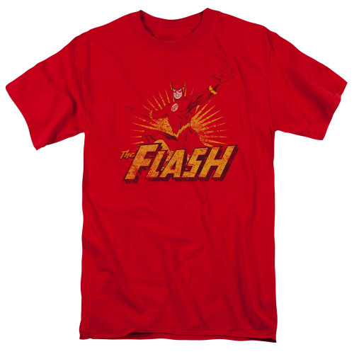 Image for Justice League of America Flash Rough Distress T-Shirt