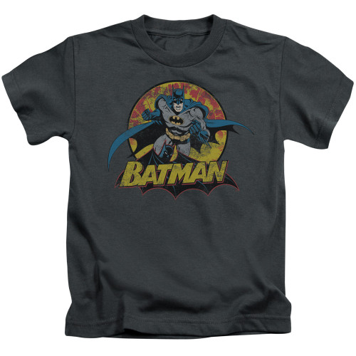 Image for Justice League of America Batman Rough Distress Kid's T-Shirt