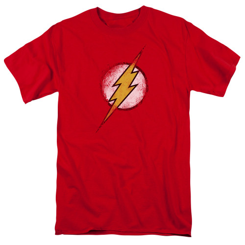 Image for Justice League of America Destroyed Flash Logo T-Shirt