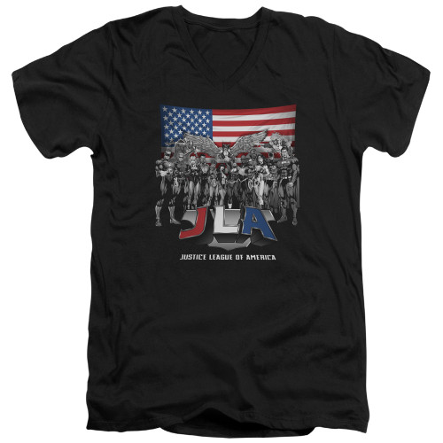 Image for Justice League of America V Neck T-Shirt - All American Eagle