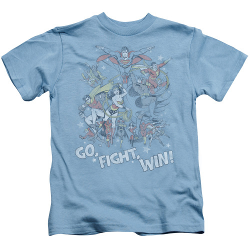 Image for Justice League of America Go Fight Win Kid's T-Shirt