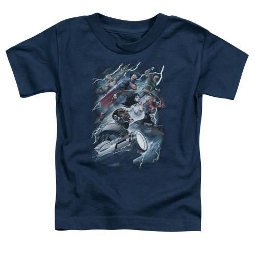 Image for Justice League of America Ride the Lightning Toddler T-Shirt
