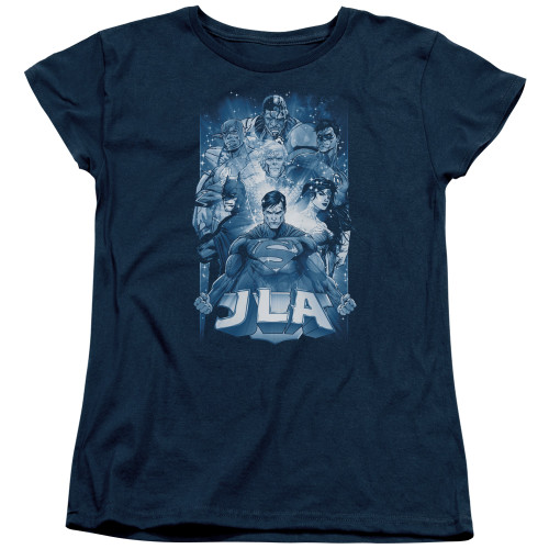 Image for Justice League of America Burst Woman's T-Shirt