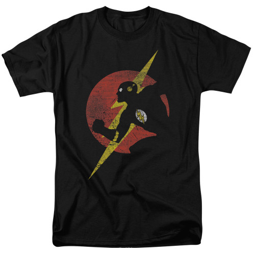 Image for Justice League of America Flash Symbol Knockout T-Shirt