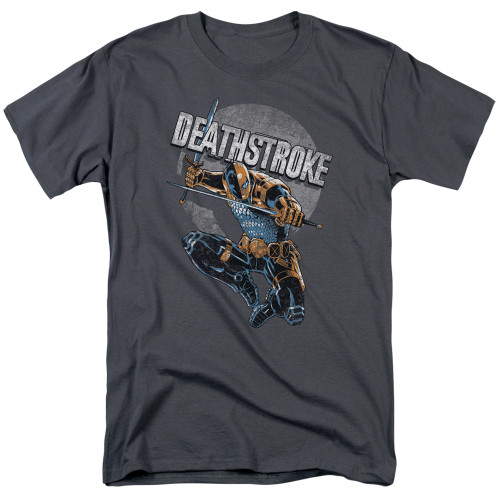 Image for Justice League of America Deathstroke Retro T-Shirt