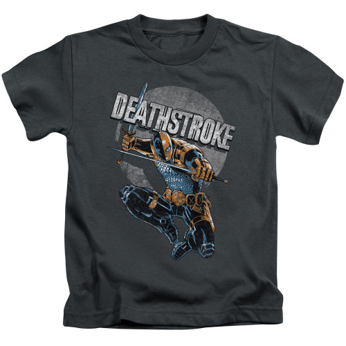 Image for Justice League of America Deathstroke Retro Kid's T-Shirt