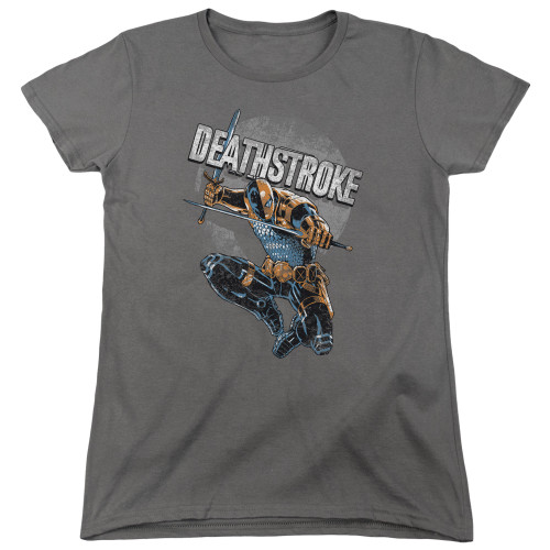 Image for Justice League of America Deathstroke Retro Woman's T-Shirt