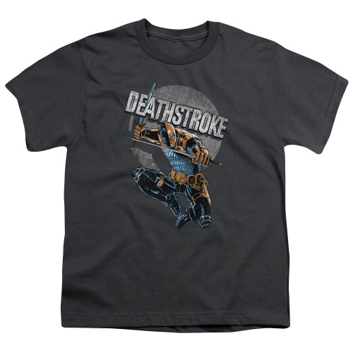 Image for Justice League of America Deathstroke Retro Youth T-Shirt