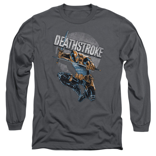 Image for Justice League of America Long Sleeve Shirt - Deathstroke Retro