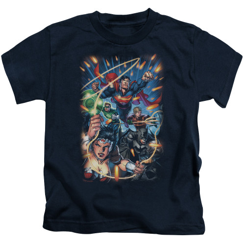 Image for Justice League of America Under Attack Kid's T-Shirt