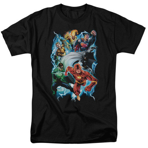 Image for Justice League of America Electric Team T-Shirt