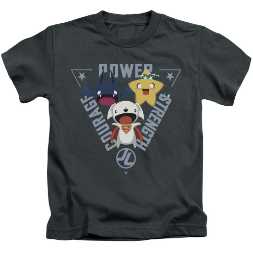 Image for Justice League of America Power Trio Kid's T-Shirt