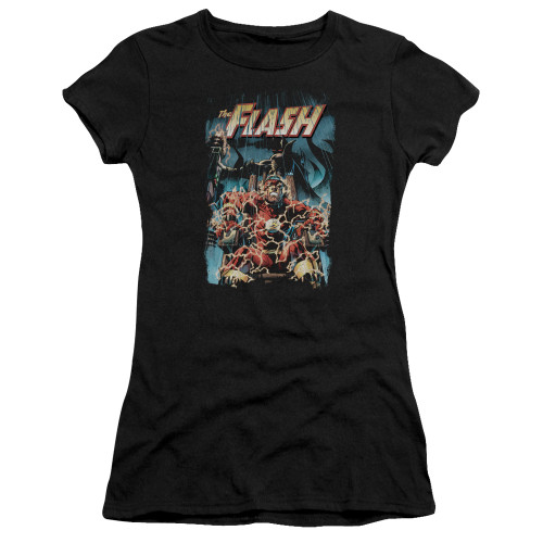 Image for Justice League of America Electric Chair Girls Shirt