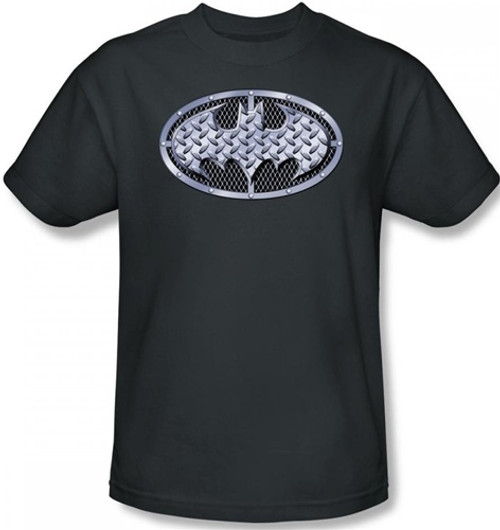 Image Closeup for Batman T-Shirt - Steel Mesh Logo