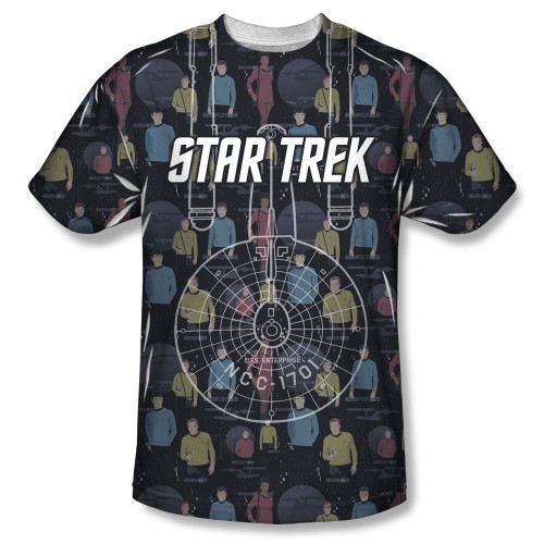 Image for Star Trek Sublimated T-Shirt - Enterprise Crew 100% Polyester