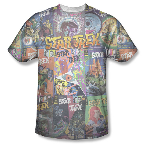 Image for Star Trek Sublimated T-Shirt - Classic Comics 100% Polyester