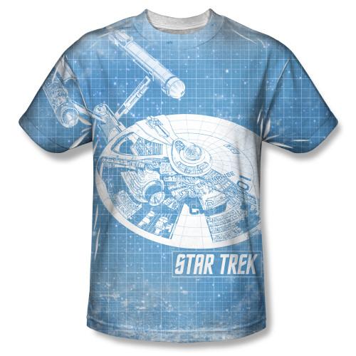 Image for Star Trek Sublimated T-Shirt - Ships Blueprint 100% Polyester