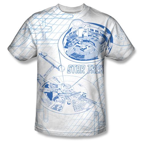 Image for Star Trek Sublimated T-Shirt - Bridge Zoom 100% Polyester