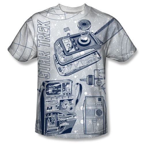 Image for Star Trek Sublimated T-Shirt - Gadgets 100% Polyester