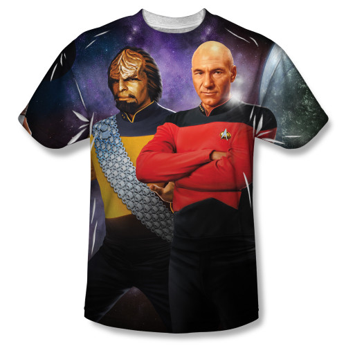 Image for Star Trek Sublimated T-Shirt - TNG Posed 100% Polyester
