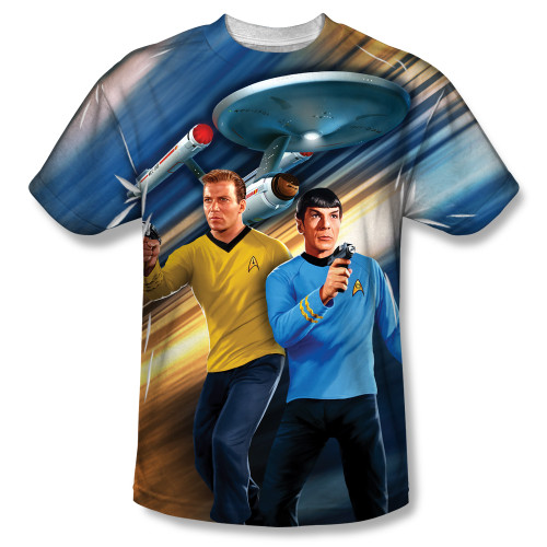 Image for Star Trek Sublimated T-Shirt - Phasers Drawn 100% Polyester