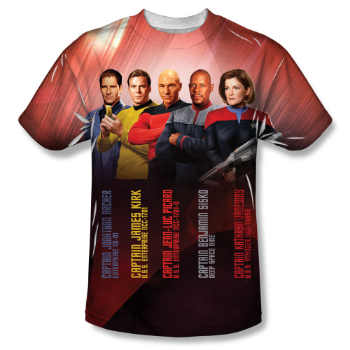 Image for Star Trek Sublimated T-Shirt - the Captains 100% Polyester