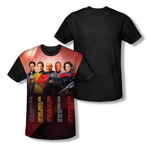 Image for Star Trek Sublimated Youth T-Shirt - the Captains