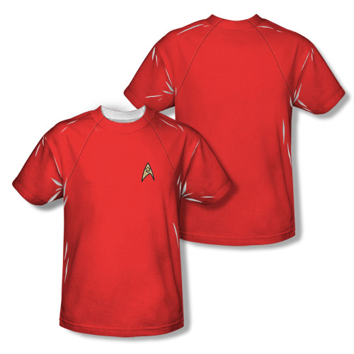 Image Closeup for Star Trek Sublimated T-Shirt - TOS Engineering Uniform