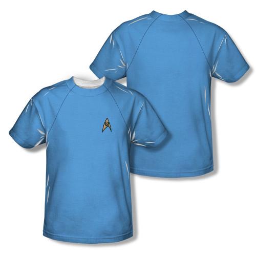 Image Closeup for Star Trek Sublimated T-Shirt - TOS Science Uniform