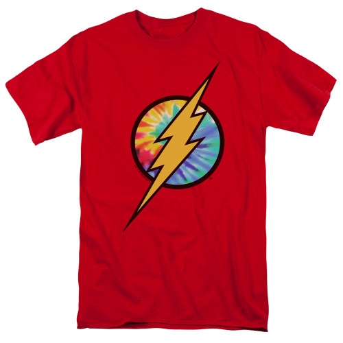 Image for Justice League of America Tie Dye Flash Logo T-Shirt